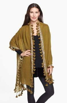 Eileen Fisher Metallic Wool Wrap available at #Nordstrom