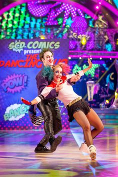 SCD week 6, 2016 .Louise Rednapp & Kevin Clifton. Charleston. Credit: BBC / Guy Levy