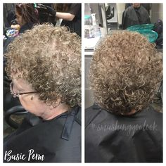 Basic Perm Using Pink rods all over.4/22/16
