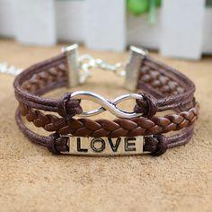 Charm Bracelet -infinity karma bracelet-infinity bracelet-love bracelet,magic cute three connected bracelet