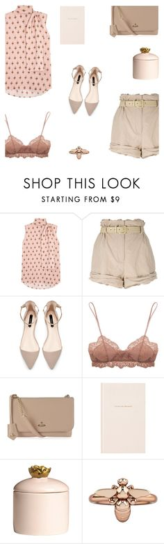 """""""Ready to fly"""" by alongcametwiggy ❤ liked on Polyvore featuring Valentino, Moschino, Zara, Eberjey, Vivienne Westwood, Kate Spade, H&M and 1986"""