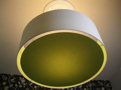 "Lampenschirm 45 cm ""green meets white"" + Diffusor"