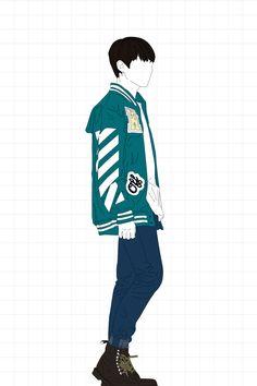 '방탄소년단' 정국 // Maknae Line: Jungkook // FanArt Jungkook Fanart, Kpop Fanart, Bts Jungkook, Jungkook Fashion, Kpop Drawings, Kawaii, Portfolio, Bts Wallpaper, Cool Stuff