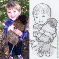 Nattyzee3 sketch. Portrait commission information.