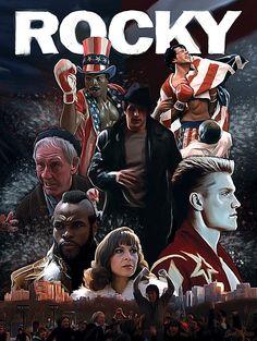 Rocky Saga Poster, Saint Genesis on ArtStation at http://www.artstation.com/artwork/rocky-saga-poster