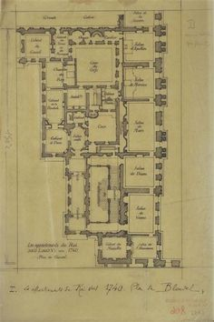 The king's apartment in 1740