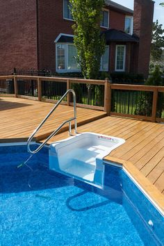 Our vast selection of pools ranges from Inground, Onground, and Above Ground styles to suit your needs best to create the backyard oasis of your dreams. Small Backyard Pools, Swimming Pools Backyard, Garden Pool, Pool Landscaping, Lap Pools, Indoor Pools, Small Pools, Above Ground Pool Steps, In Ground Pools