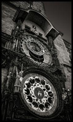 Prague Astronomical Clock by Václav Verner on 500px (b & w)