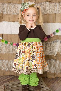Owls! Deer! Oh my!  Perfect fall fashion! I found this on www.kidsflytoo.com