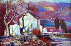 Landscape Painting by American Impressionist Artist Daniel Garber