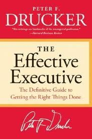 """Drucker identifies five practices essential to business effectiveness that can, and must, be learned: Managing time Choosing what to contribute to the organization Knowing where and how to mobilize strength for best effect Setting the right priorities Knitting all of them together with effective decision-making. """"Effective Executive"""" by Peter F. Drucker is available at Diwan Maadi for 136 L.E"""