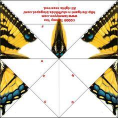 Origami n' Stuff 4 Kids: Tiger Swallowtail Butterfly printable paper Origami n & # Zeug 4 Kids: Tiger Swallowtail Butterfly bedruckbares Papier Origami Mouse, Kids Origami, Origami Fish, Origami Butterfly, Origami Animals, Butterfly Kids, Origami Ideas, Monarch Butterfly, Paper Folding Crafts