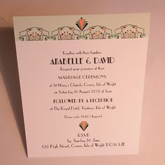 Art Deco Wedding Invitation - Opera design