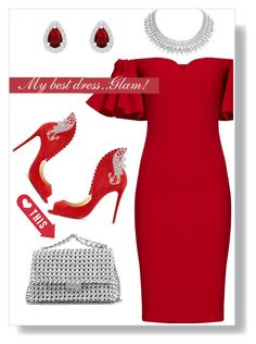 """""""#my best dress"""" by liligwada ❤ liked on Polyvore featuring Badgley Mischka, Christian Louboutin and STELLA McCARTNEY"""