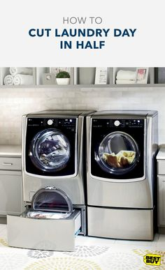 Laundry day. The day that everyone dreads. So much time waiting for each load of wash to finish. Now, with the LG Twin Wash featuring the LG Sidekick, you can free up your afternoon by getting two loads done at once. Wash your regulars and delicates in one go, take care of lights and darks at the same time, and you can finish a large load of wash at the same time as a small one. Now your laundry day can become a day of fun with all the time you'll get back. Shop our LG Twin Washers and…