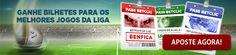 A nova época futebolística já arrancou e está ao rubro! A Betclic oferece-lhe a oportunidade de assistir aos jogos da 1.ª Liga em lugares VIP nos estádios de SL #Benfica, #FCPorto e #Sporting CP. Apoie o seu clube favorito e ganhe pontos com as suas apostas vencedoras para apoiar o seu clube no estádio no seu lugar VIP.