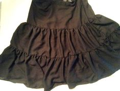 NICOLE MILLER Skirt Sz 8 Black Sheer Lined Boho 3-Tier Circle Made in India  | eBay