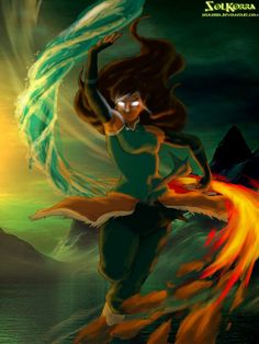 ~Inspirated in the Red Moon, of chapter 20 of The Legend of Aang, I decided made this new draw of Korra in Avatar State, and I made a new water style to. Avatar Fan Art, Team Avatar, Pokemon Ash And Serena, Koi, Avatar Cartoon, Avatar World, Water Tribe, Avatar Series, Korra Avatar
