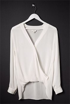 Minimal + Classic: OCRF Cross Front Tail Shirt - Witchery