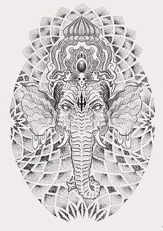 Lord Ganesha - Remover of Obstacles - Tattoo Imagery, Stories & Symbolism Ganesha Tattoo, Man Sketch, Lord Ganesha, Tattoo Designs For Women, Tattoo Studio, Mumbai, Cool Tattoos, Concept Art, Custom Design
