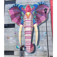 Farid Rueda in México 5/2016 #FaridRueda #elephant #elefante #animal #streetartcancún #streetartdf #streetart #graffiti #ganesh #ganesha #ARTECATEPEC