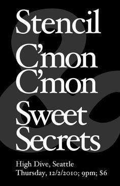 Stencil, C'mon C'mon, Sweet Secrets at the High Dive in Fremont, Seattle