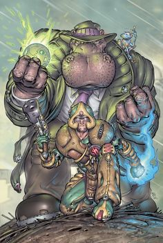 Strontium Dog Vs Elephantmen by Boo Cook