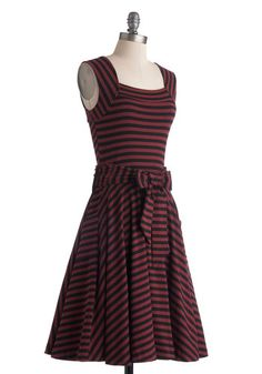 Guest of Honor Dress in Varsity Stripes, Casual/Daytime dress #ModCloth