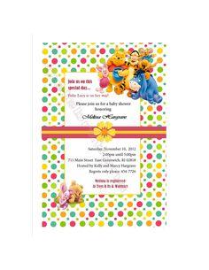 Winnie the Pooh Baby Shower Invitation. $7.00, via Etsy.