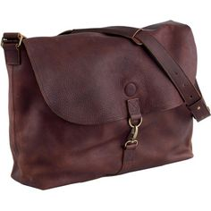 Women's 'Lifetime Leather' messenger bag by Dultuth Trading Co.; this is made to last a lifetime and looks better with use; just the right size for a daily carry-all.