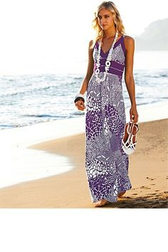 Dresses - Heine Printed Maxi Dress: For cruise? Summer Dresses Online, Heine, Affordable Dresses, Maxi Dresses, Nice Dresses, Dress Skirt, Fashion Dresses, Holiday Outfits, Summer Outfits