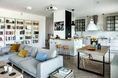 Otwarta przestrzeń w stylu eklektycznym - Lovingit.pl