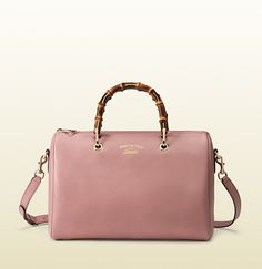Gucci Bamboo Shopper Candy Pink Leather Boston Tote Bag; $2,100.00
