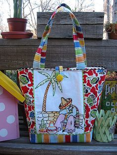 Mexican Embroidery Tote by Beth's Bagz, via Flickr