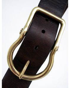 RRL Leather Belt