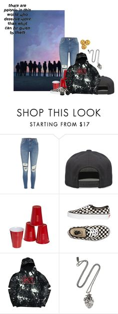 """""""Untitled #915"""" by jaykitten123 ❤ liked on Polyvore featuring River Island, Alex and Chloe, Vans, Pamela Love and KAOS"""
