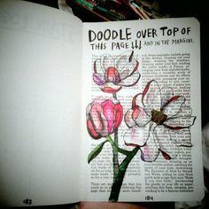 """Boek om op te gebruiken: """"Wreck this journal"""""""