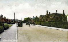 Postcard of Yaxley Main Street | Groups, Mixed, Schools, Urban villages, Vans | Yaxley