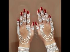 Everything You Need To Know About White Henna! Henna Art Designs, Mehndi Designs For Beginners, Mehndi Designs For Fingers, Bridal Henna Designs, Unique Mehndi Designs, Mehndi Design Images, Beautiful Mehndi Design, Red Henna, White Henna