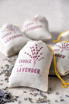 Sachets Filled With Lavender.