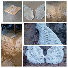 Angel wings made with paper plates.