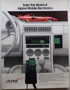 Vintage 1985 Alpine Mobile Electronics Playboy Print Ad Audio Car Man Cave #Vintage #Alpine #Mobile #Electronics #Playboy #Print #Ad #Audio #Car #Man #Cave