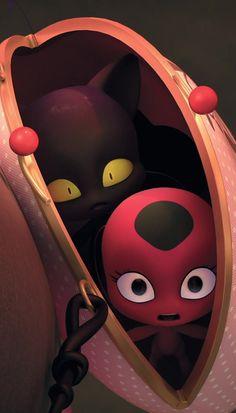 Cute Fall Wallpaper, Mlb Wallpaper, Cartoon Wallpaper, Miraculous Ladybug Movie, Miraculous Characters, Tikki Miraculous, Tikki Y Plagg, Ice Bear We Bare Bears, Dark Wings