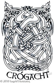 Intertwined dragons    Crogacht - Valour by Illahie.deviantart.com on @deviantART