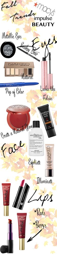 Fall Beauty Trends with Macy's Impulse Beauty