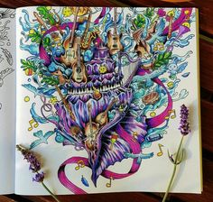 Beautiful music coloring page