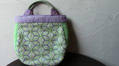 麻の葉 ㇳ 若草色の鞄