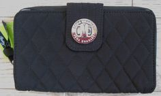 NWT NEW VERA BRADLEY CLASSIC BLACK TURNLOCK WALLET $64.00
