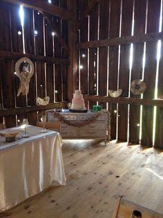 Love the ambient lighting through the slats at Jordan valley barn!