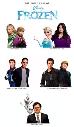 (The voice cast of Disney's Frozen ) You know it's going to be a good movie when all the actors have been on Broadway